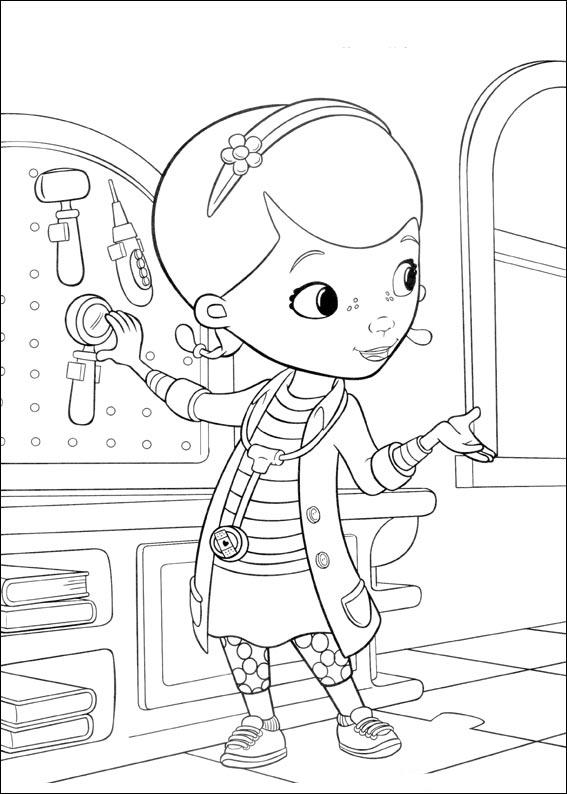 Doc McStuffins Coloring Page Toy Hospital