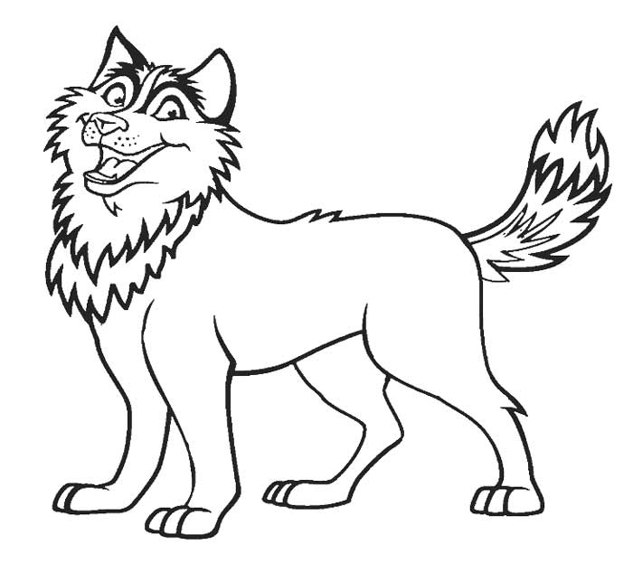 coloring pages huskys - photo#2