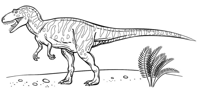Free Velociraptor Coloring Pages