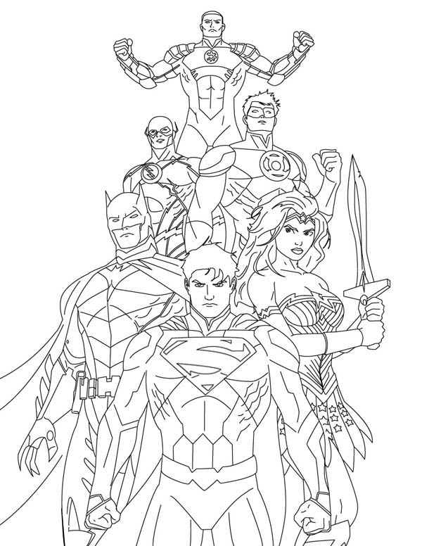 coloring pages and justice league - photo#4