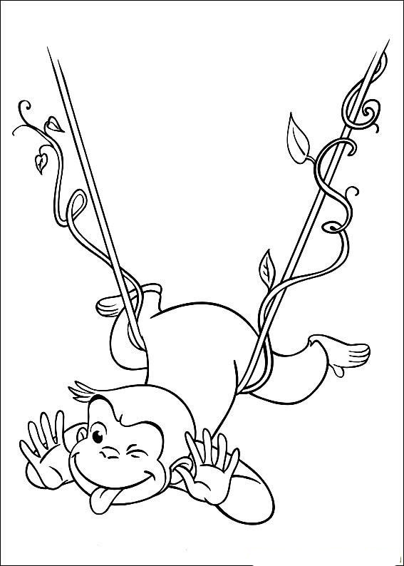 Printable Curious George Coloring Page