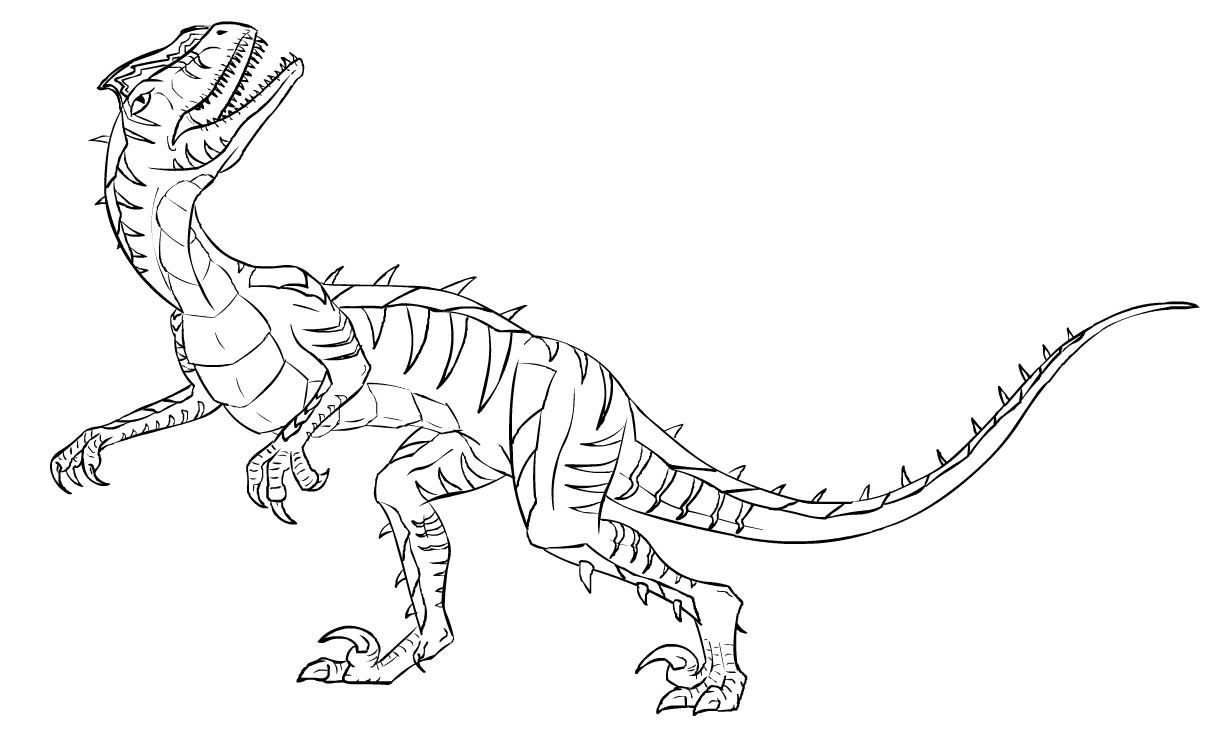 Dinosaur Volcano Coloring Pages