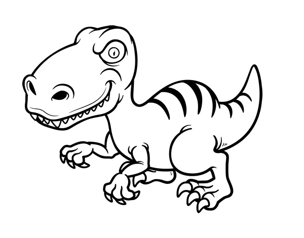 dinosaur raptor coloring pages - photo#23