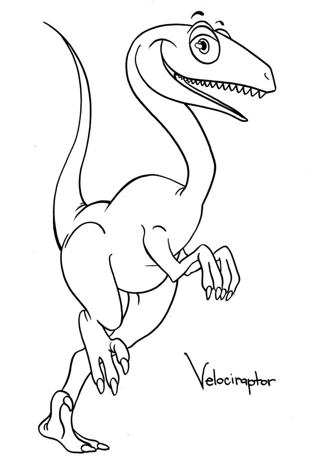 dinosaur raptor coloring pages - photo#16
