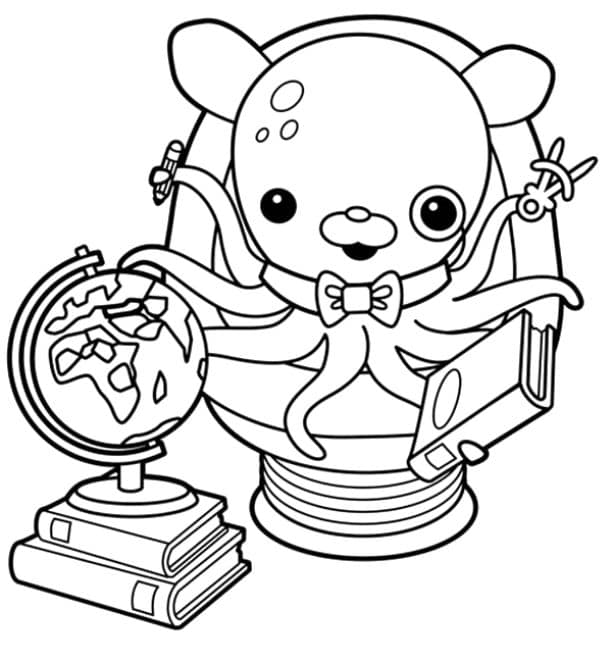 Professor Inkles - Octonauts Coloring Pages