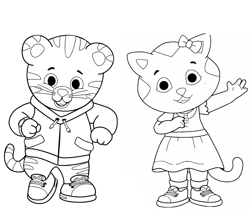 daniel and katerina daniel tiger coloring pages - Daniel Tiger Coloring Pages