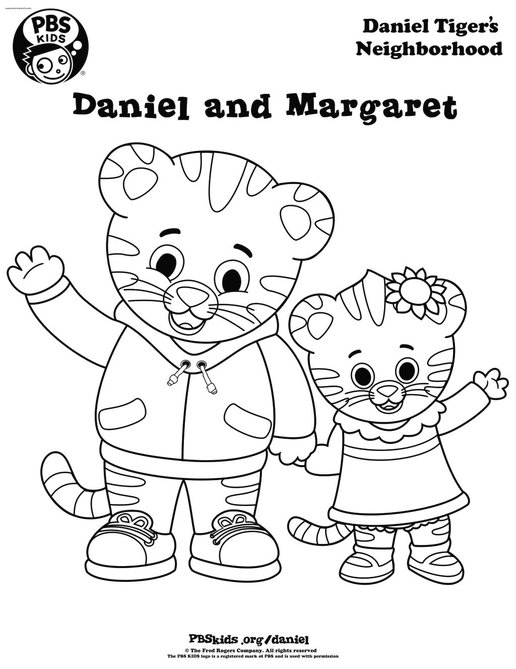 Printable coloring pages daniel tiger - Daniel And Margaret Daniel Tiger Coloring Pages