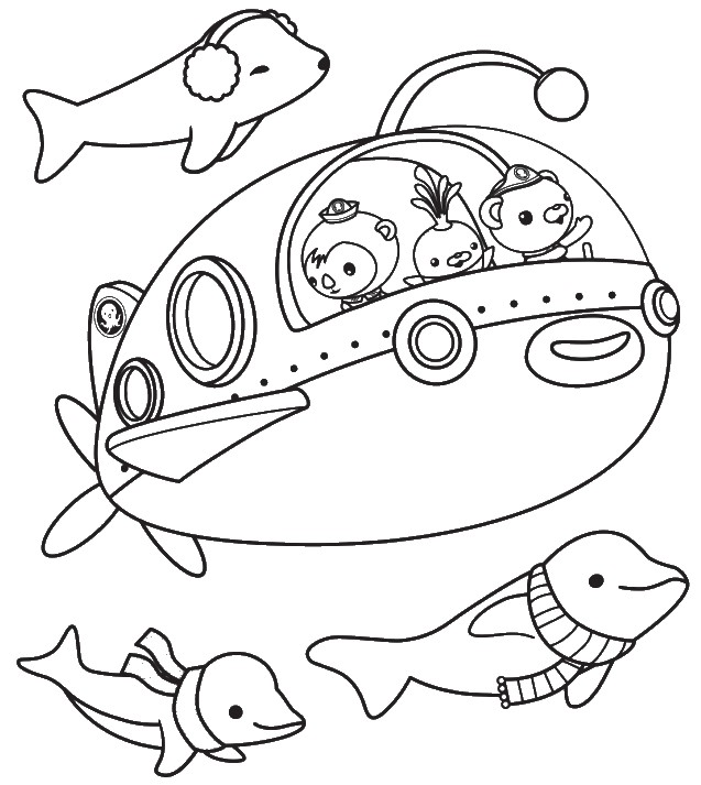 Dolphins - Octonauts Coloring Pages