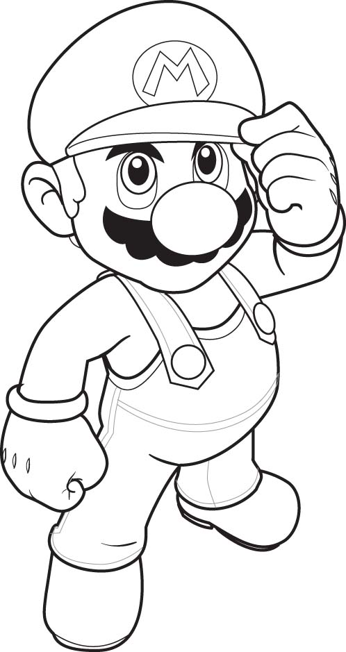 Free Super Mario Coloring Pages