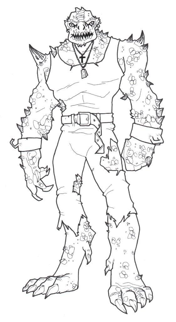 Suicide squad coloring pages best coloring pages for kids for Killer croc coloring pages