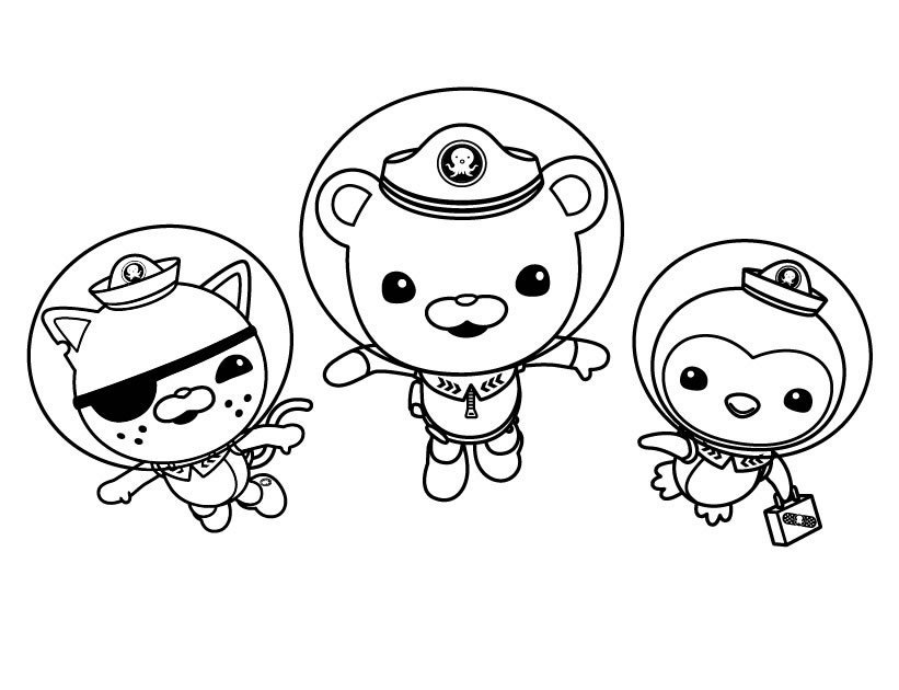octonauts coloring page - Octonaut Coloring Pages