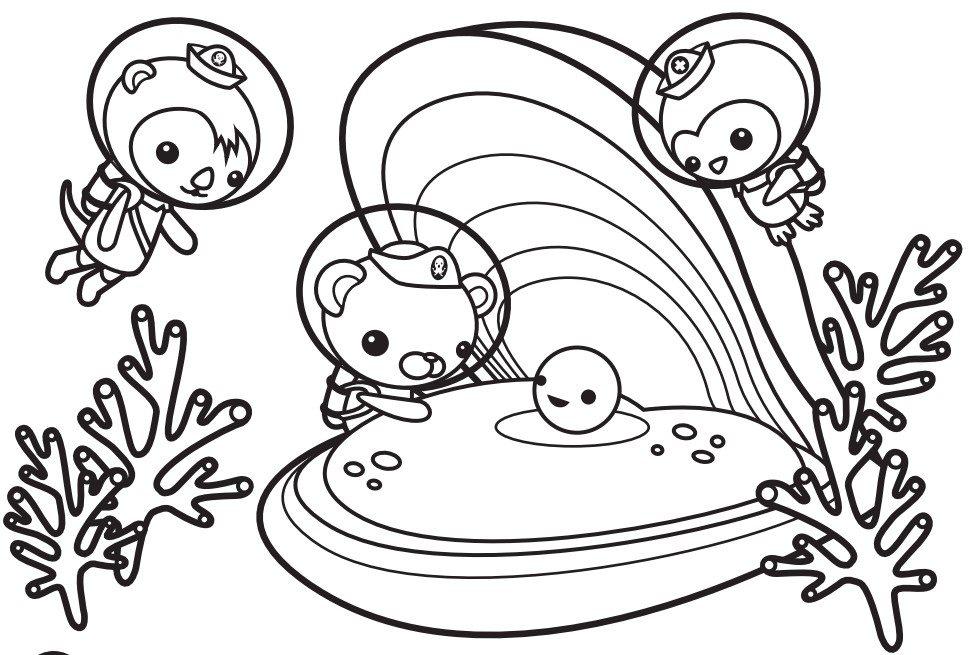 Oyster and Pearl - Octonauts Coloring Pages