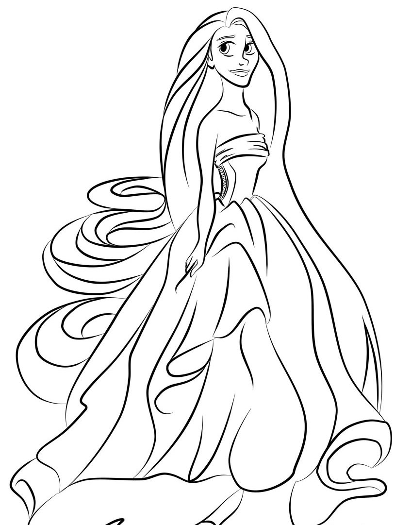 prncess coloring pages - photo#8