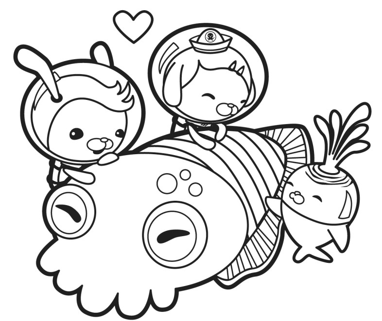 free coloring pages octonauts - photo#6