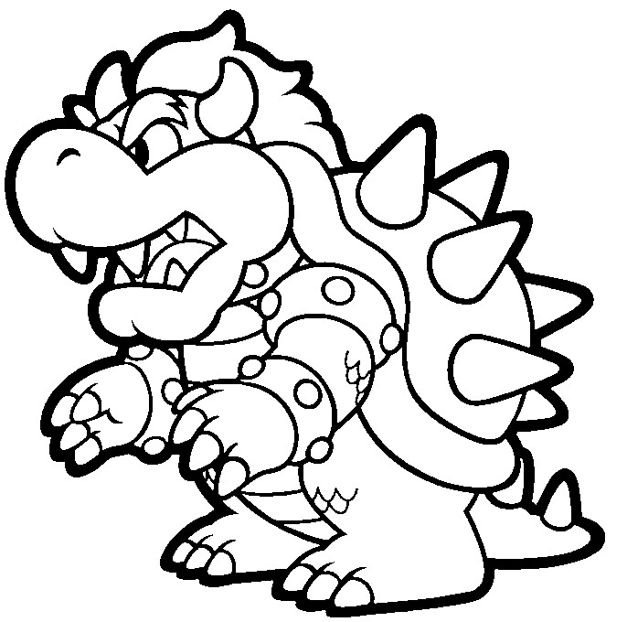 Modest image pertaining to printable mario coloring pages