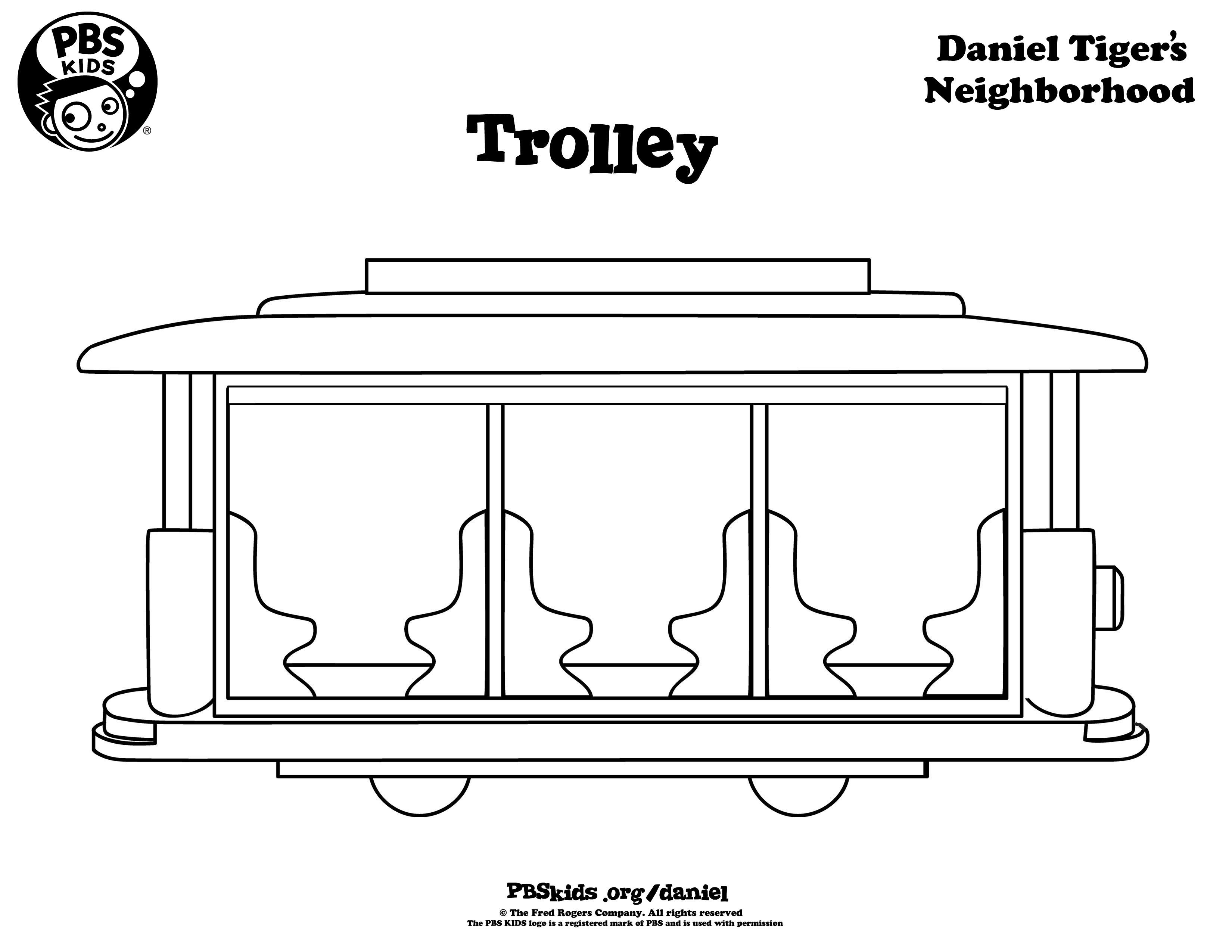 Trolley Daniel Tiger Coloring Pages