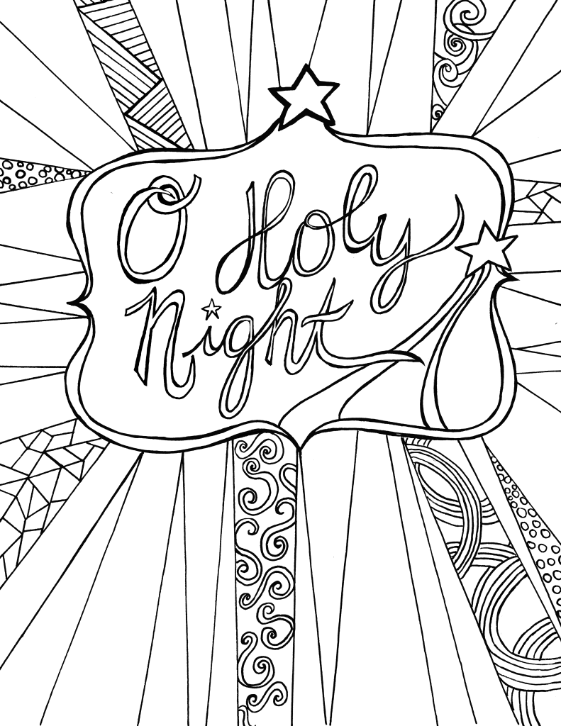Candle - Christmas Coloring Pages for Adults
