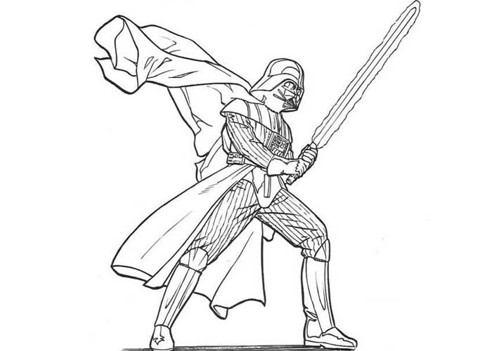 Darth Vader Coloring Page Printable