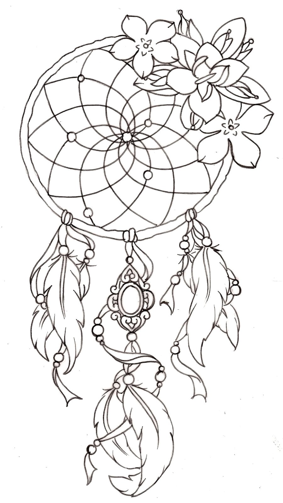 dreamcatcher indian coloring pages - Indian Coloring Pages