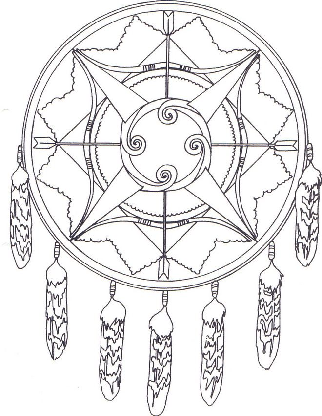 Dream Catcher Worksheet Native American Coloring Pages Best Coloring Pages For Kids 37