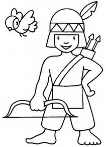Easy Indian Coloring Pages