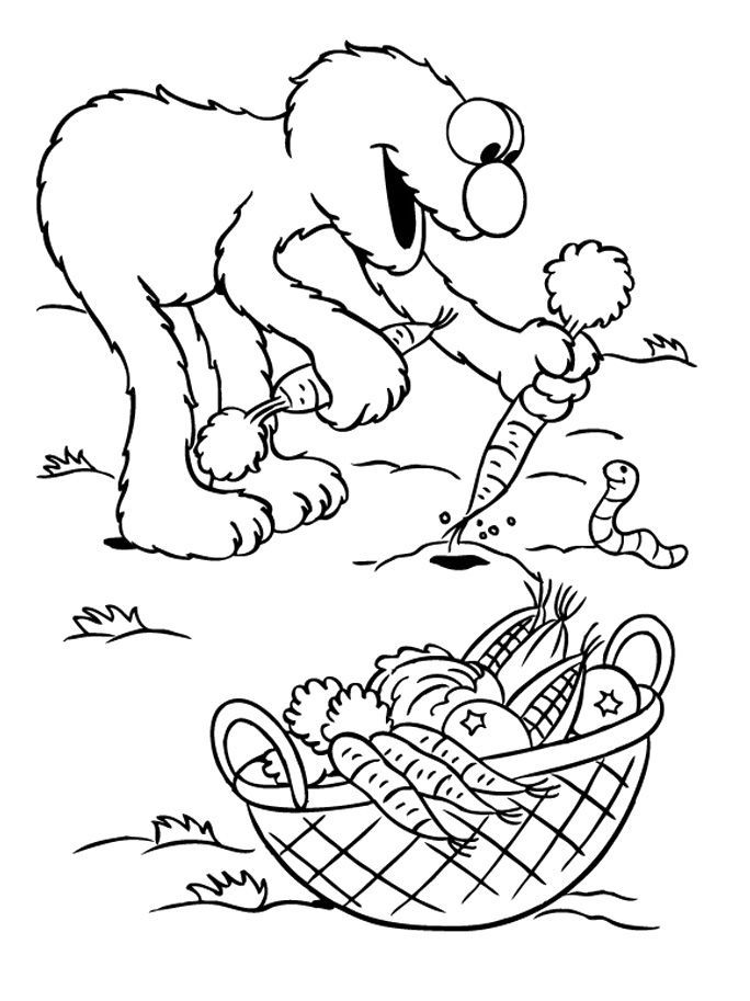 Images Of Elmo Coloring Pages