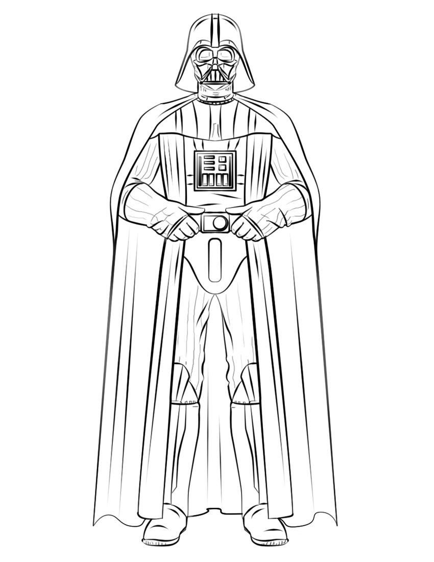 free printable star wars coloring pages - darth vader coloring pages best coloring pages for kids