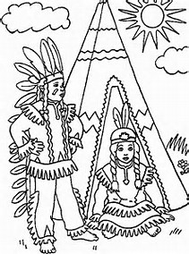 Indian Tee Pee Coloring Page