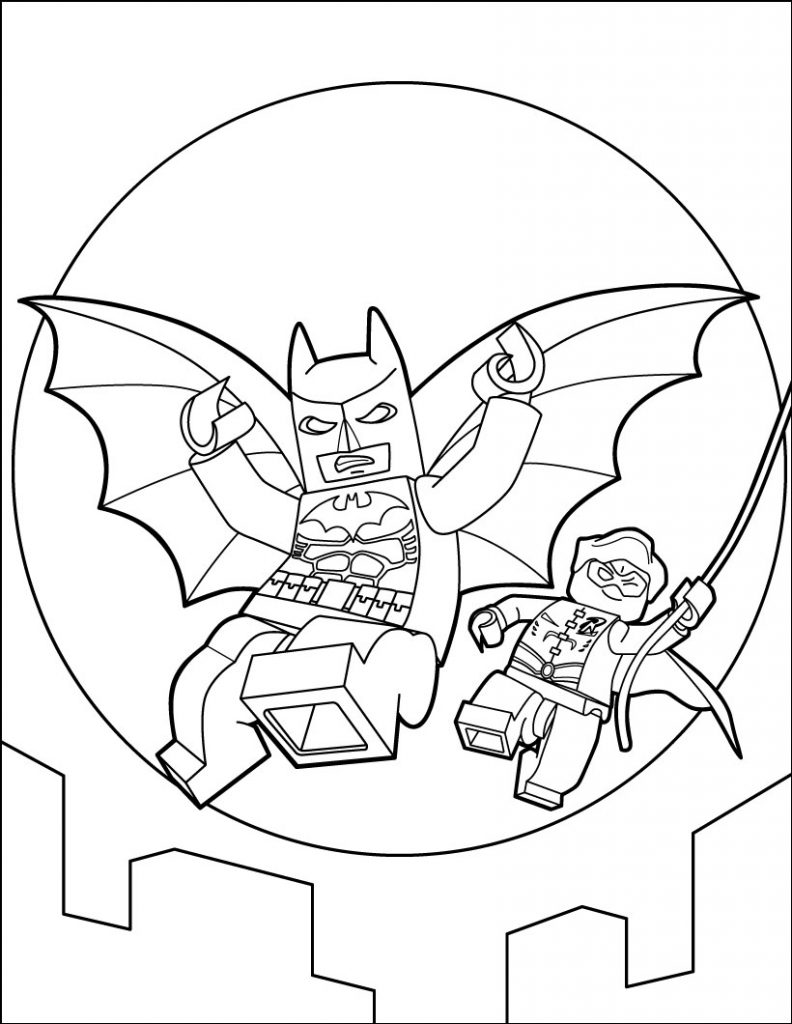 Lego Movie Coloring Pages Pdf : Lego batman coloring pages best for kids