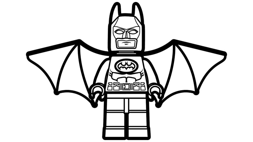 Lego Batman Wings Coloring Page