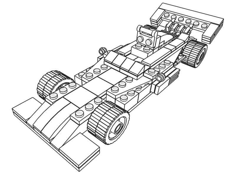 Lego Sports Car Coloring Page