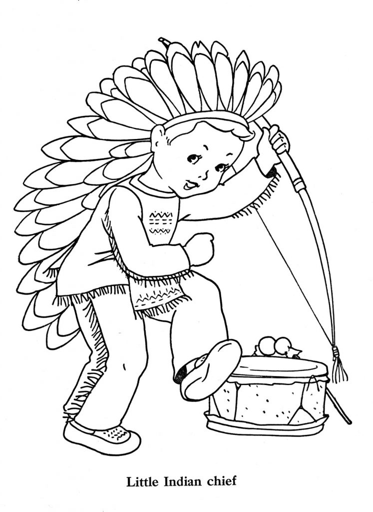Little Indian Chief - Indian Coloring Pages
