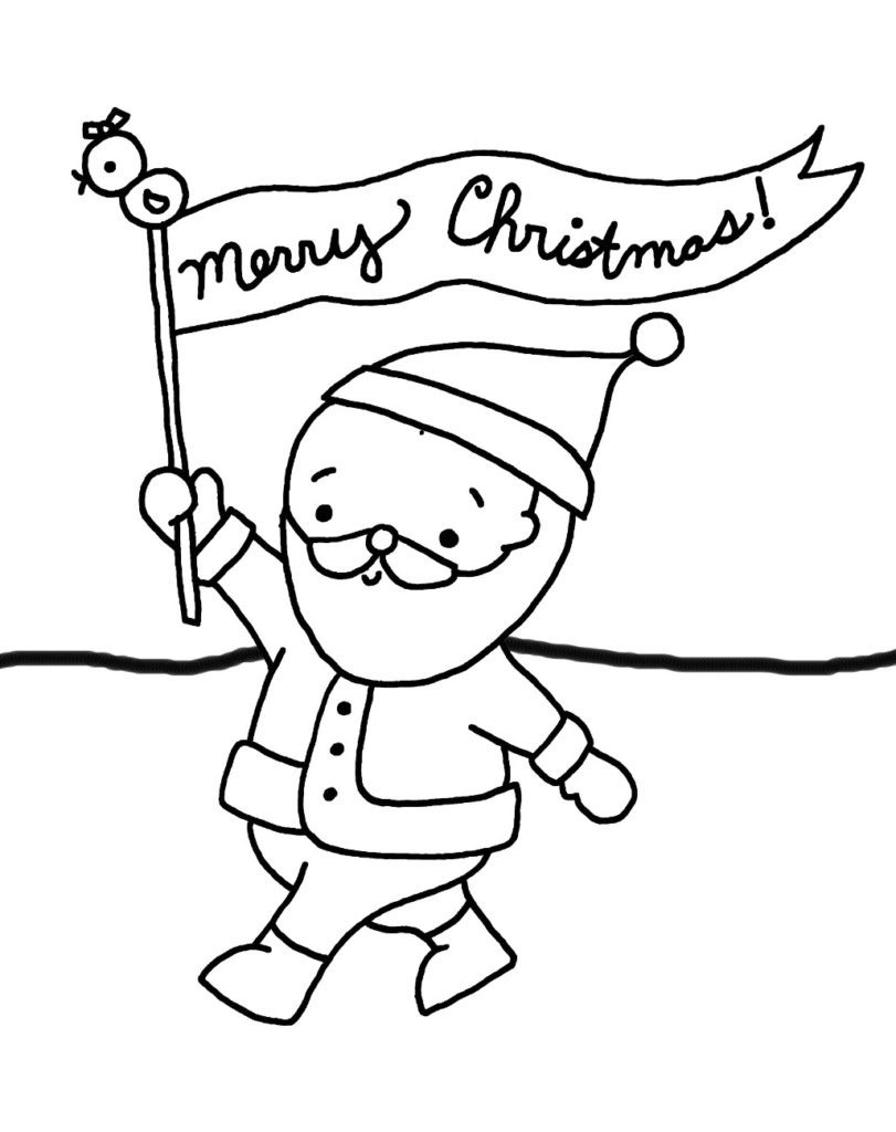 Merry Christmas Coloring Pages - Banner