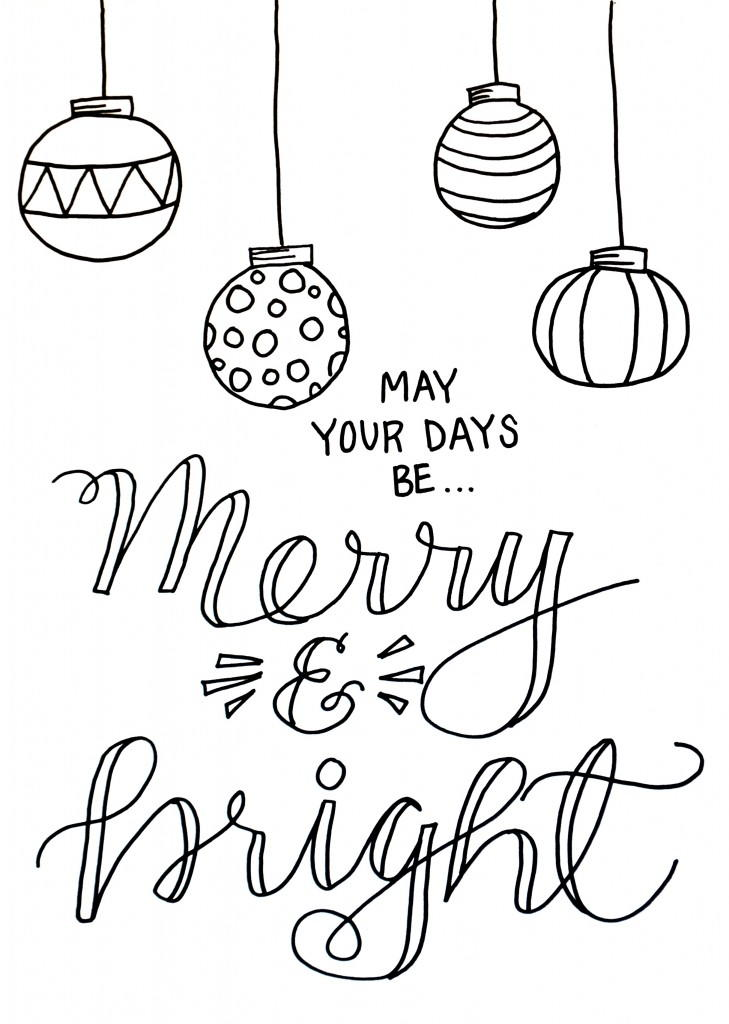 Free printable merry christmas coloring pages for Pictures of christmas coloring pages