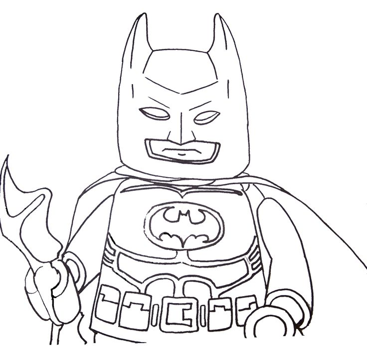 Coloring Page Batman Lego Pages Best For