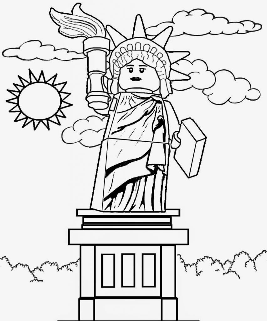 Statue of Liberty - Lego City Coloring Pages