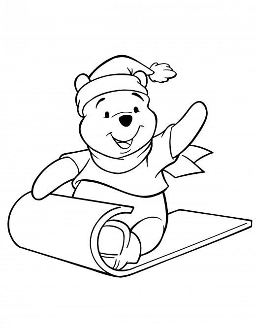 disney sledding coloring pages - photo#10