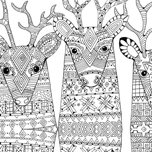 zendeer christmas coloring pages for adults
