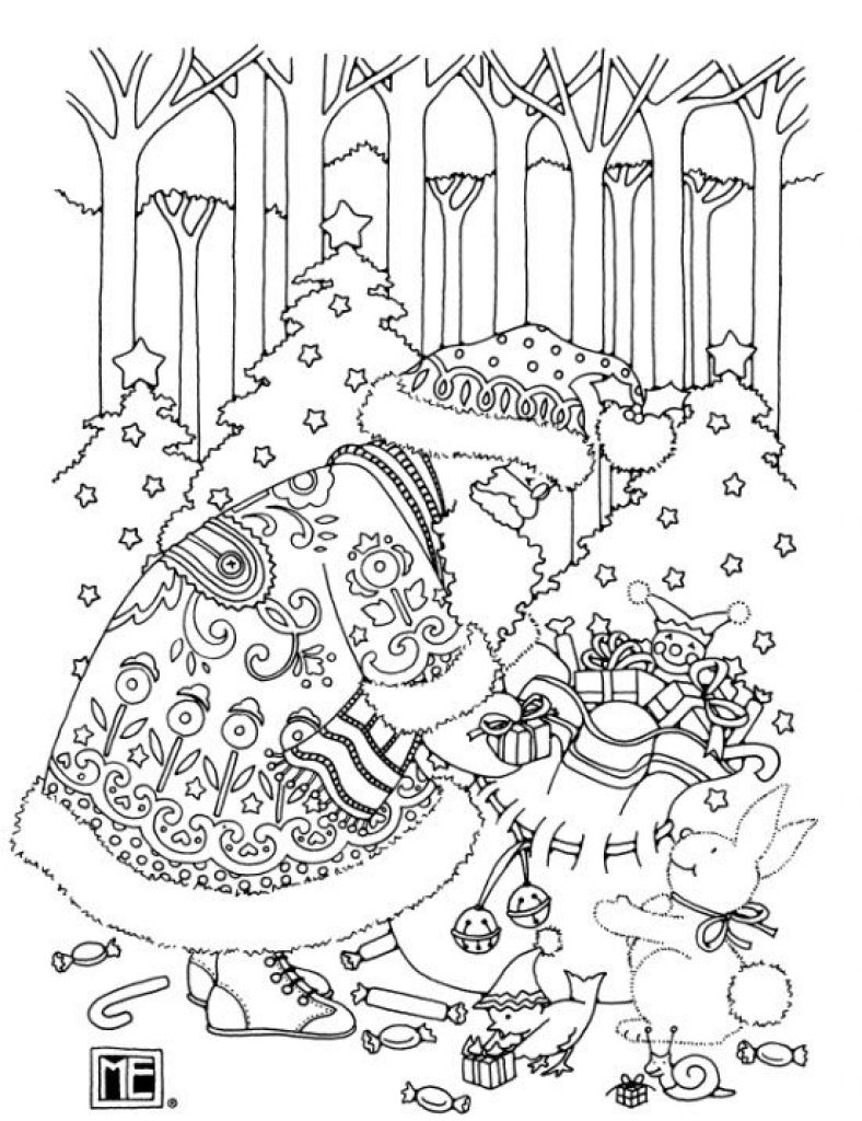 by Mary Engelbreit - Christmas Coloring Pages For Adults