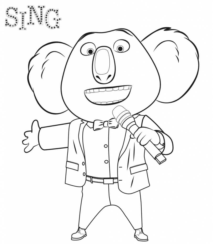 Buster Moon - Sing Coloring Pages