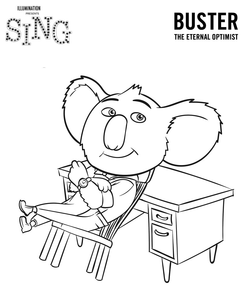 Sing Coloring Pages images 1