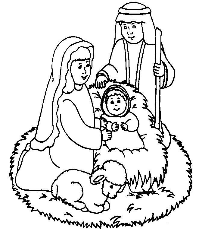 Baby Jesus Coloring Pages - Best Coloring Pages For Kids