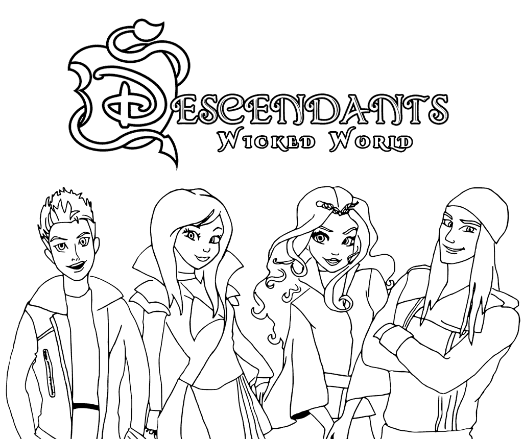 Free Printable Coloring Pages : Descendants coloring pages best for kids