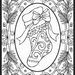 Detailed Christmas Stocking Coloring Pages