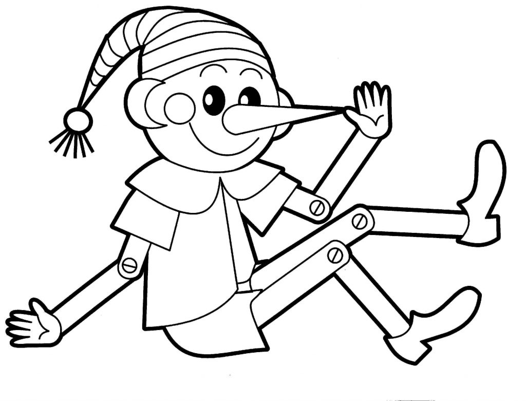 Elf Toy Coloring Page