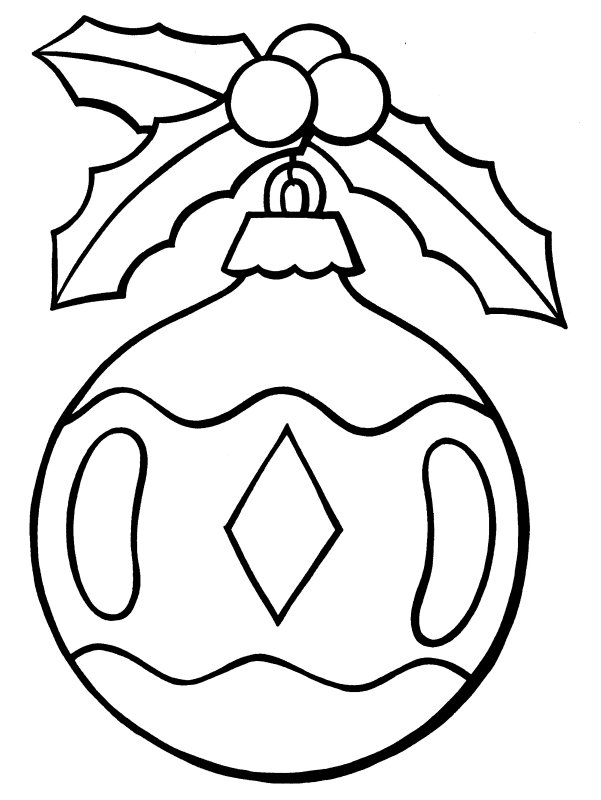 free printable christmas ornament coloring pages - Christmas Ornament Coloring Page