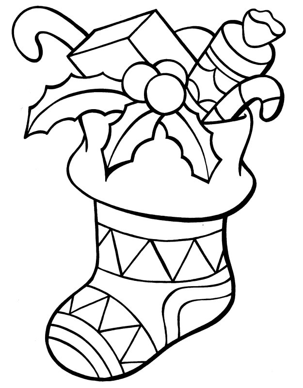 Christmas Stocking Coloring Pages Alluring Christmas Stocking Coloring Pages  Best Coloring Pages For Kids Review