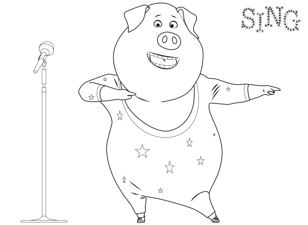 Gunter - Sing Coloring Pages