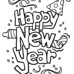 Happy New Year Coloring Pages Fun