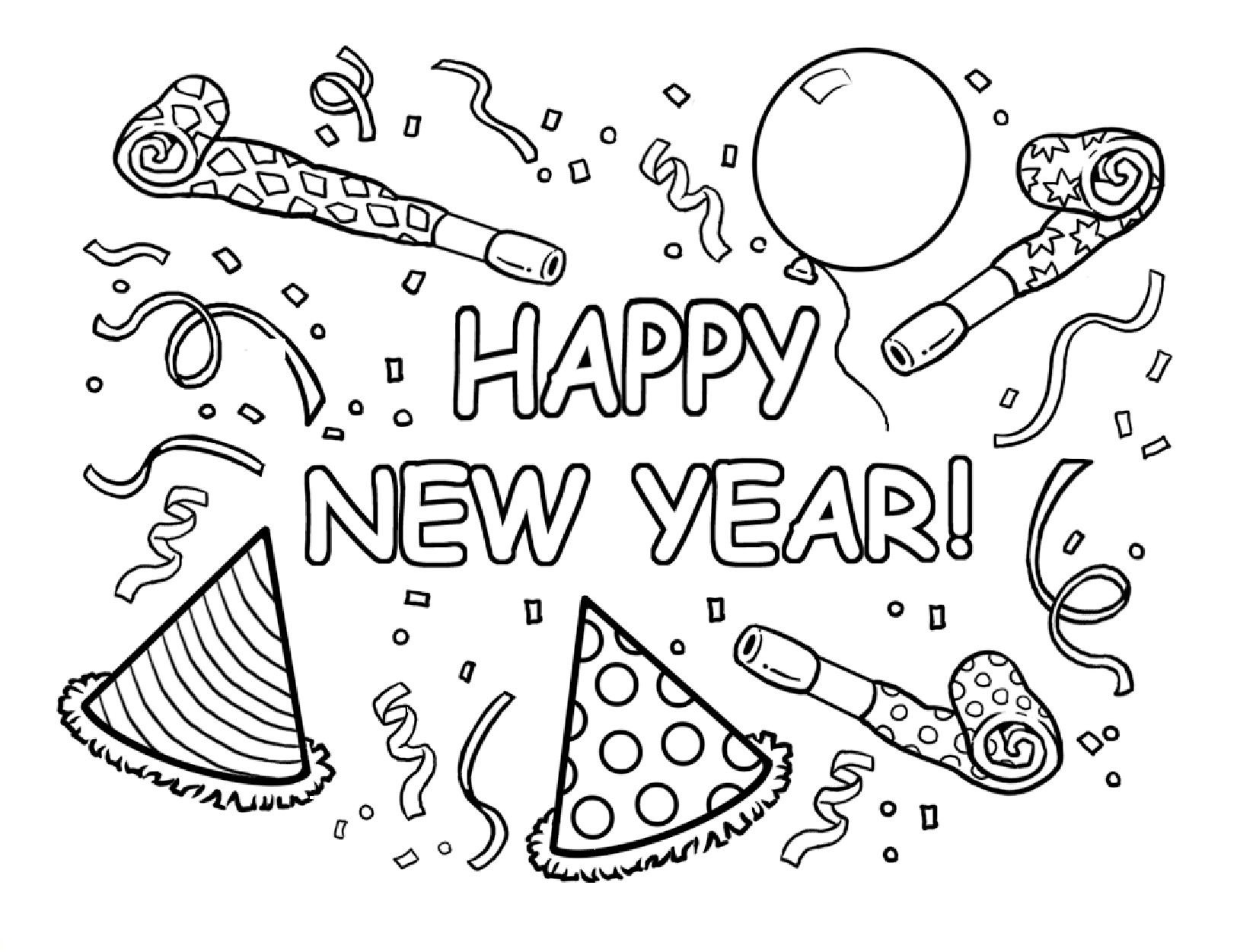Happy New Year Coloring Pages Best Coloring Pages For Kids New Years Coloring Pages For